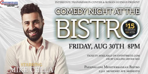 Comedy Night At The Bistro Starring Mike Cella