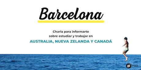 Charla YouTOOProject en Barcelona: Australia, Nueva Zelanda y Canadá tickets