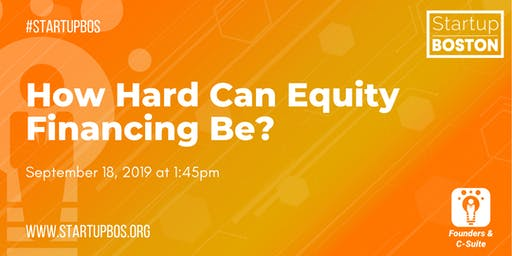 How Hard Can Equity Financing Be?