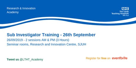 Sub Investigator Training tickets