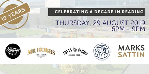 A decade in Reading - Rooftop drinks