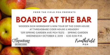 Boards at the Bar at Threadbare Cider House tickets