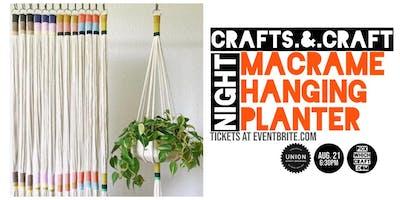 Macrame Hanging Planter - Crafts and Craft Night
