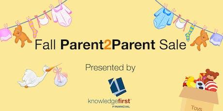 Fall Parent2Parent Sale tickets