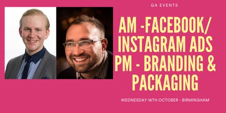 FACEBOOK/ INSTAGRAM ADS AND BRANDING & PACKAGING  tickets