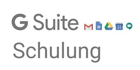 Google G Suite Grundlagen Schulung Tickets