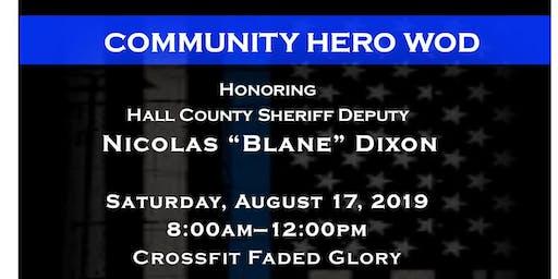 Community HERO WOD Honoring Officer Dixon