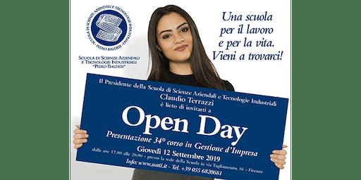 Open Day: presentazione del 34° Corso in Gestione d'Impresa
