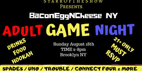 BaconEggNCheese Adult Game Night tickets
