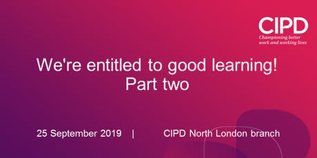 We're entitled to good learning! Part two tickets