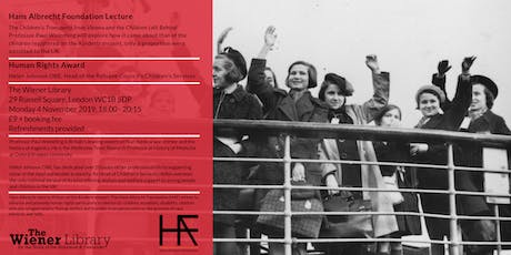 Hans Albrecht Foundation Lecture & Human Rights Award tickets