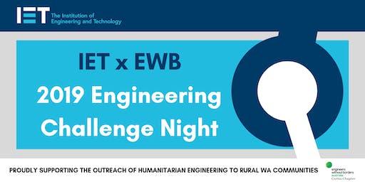 IET x EWB 2019 Engineering Challenge Night