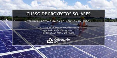 Curso de Proyectos Solares Resistencia / Septiembre 2019 entradas
