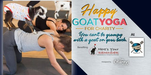 *Rescheduled*Happy Goat Yoga-For Charity at Panther Island Brewing-INDOOR Session