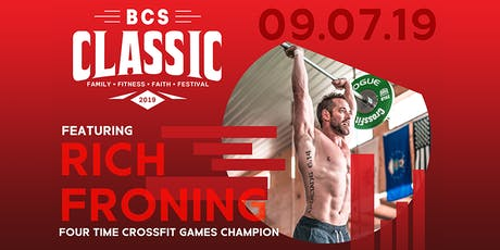 VOLUNTEER for BCS Classic 2019 - Family Fitness Faith Festival tickets