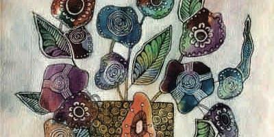 Brews & Brushstrokes - Doodle Painting: Flowers