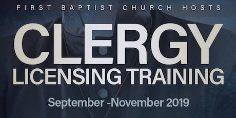 Clergy Licensing Training 2019 tickets