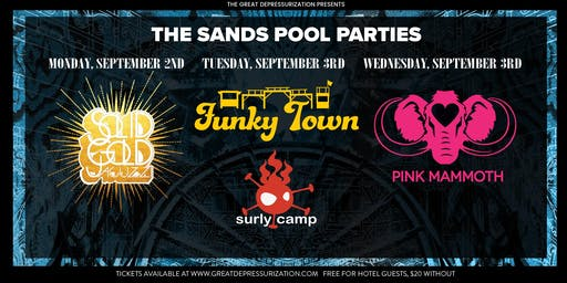 Depressurization Pool Party at The Sands