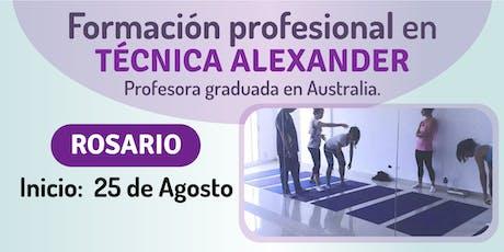 Formación profesional en Técnica Alexander en Rosario. entradas