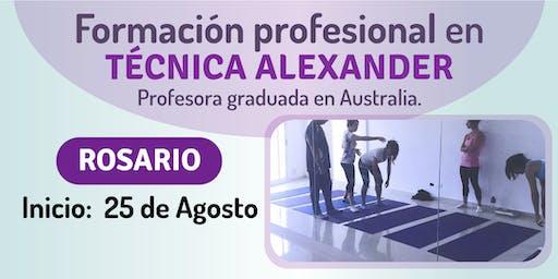 Formación profesional en Técnica Alexander en Rosario.