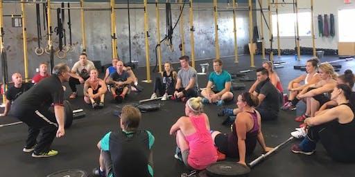Center Lake CrossFit Olympic Weightlifting Seminar