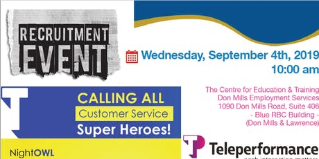 Teleperformance Hiring Event tickets