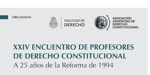 XXIV ENCUENTRO DE PROFESORES DE DERECHO CONSTITUCIONAL