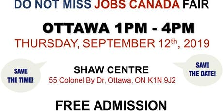 OTTAWA JOB FAIR - September 12th, 2019 tickets