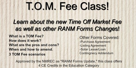 T.O.M. Fee Class (NMAR Forms Update-Core Elective) tickets