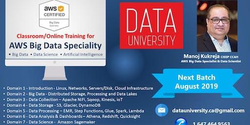 Training - AWS Big Data, Data Science & Artificial Intelligence