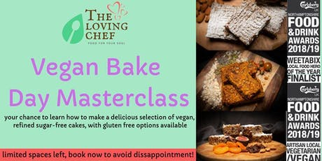 Vegan Bake Day Master Class tickets