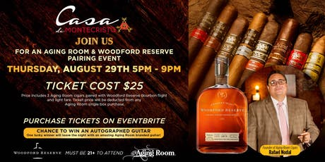 Aging Room  Cigars w/ Rafael Nodal and Woodford Reserve Pairing tickets
