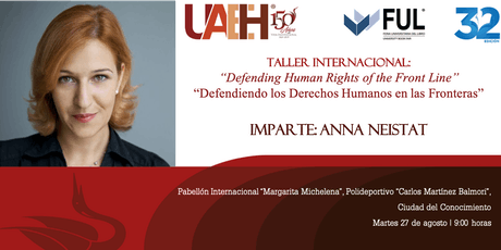 Taller Internacional por la Dra. Anna Neistat tickets