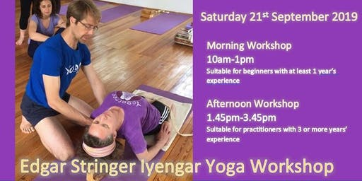 Iyengar Yoga Workshop with Edgar Stringer