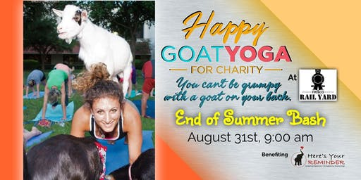 Happy Goat Yoga-For Charity: End of Summer Bash at Frisco Rail Yard