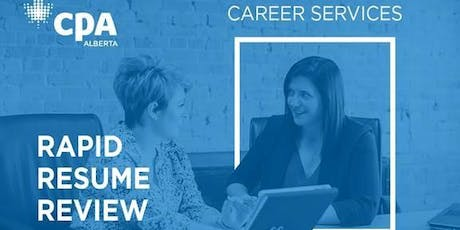 Calgary Rapid Resume Review Oct 25 tickets