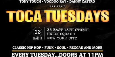 August 20: Toca Tuesdays Classic Hip Hop Party with Kool DJ Red Alert, Butta L & Resident DJ Tony Touch
