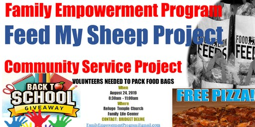 Family Empowerment Program Feed My Sheep Community Service Project