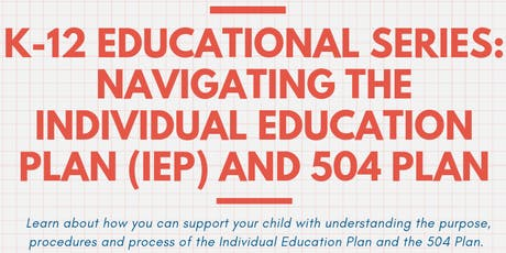 Navigating the Individual Education Plan (IEP) and 504 Plan tickets