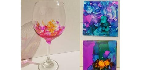 Ink & Drink: Wine Glasses and/or Coasters tickets