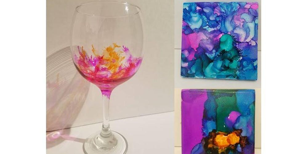 3d16dfda3f7 Ink & Drink: Wine Glasses and/or Coasters Tickets, Tue, Aug 27, 2019 at  6:00 PM | Eventbrite