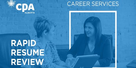 Calgary CPA Rapid Resume Review - Sept 27, 2019 tickets