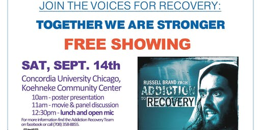 5th Annual Movie & Panel featuring: Russel Brand from Addiction to Recovery