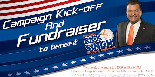 Rick Singh Campaign Kick-Off Fundraiser