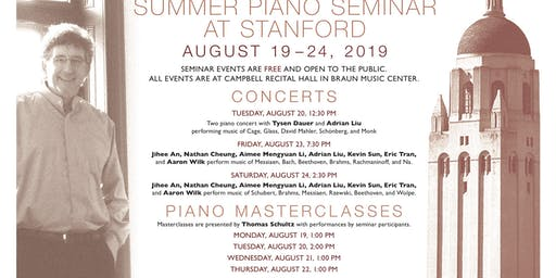 The Thomas Schultz Summer Piano Seminar at Stanford in 2019
