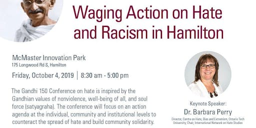 Waging Action on Hate and Racism in Hamilton