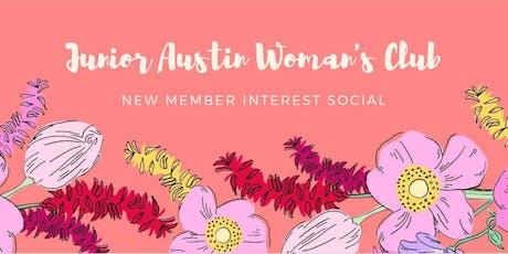 Junior Austin Woman's Club Interest Social tickets
