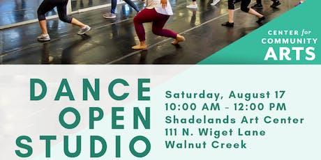 Center for Community Arts Dance Open Studio tickets