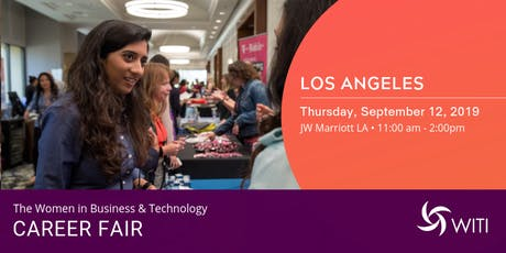 Sponsors & Recruiters: WITI 2019 Career Fair Los Angeles tickets