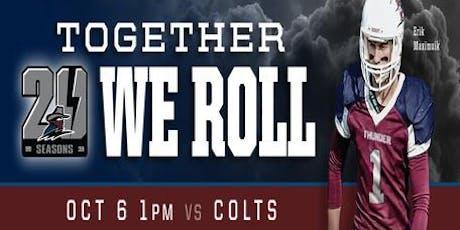 Regina Thunder VS Calgary Colts tickets